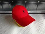 Бейсболка чоловіча червона білий лого  репліка, фото 4