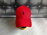 Бейсболка чоловіча червона білий лого  репліка, фото 3