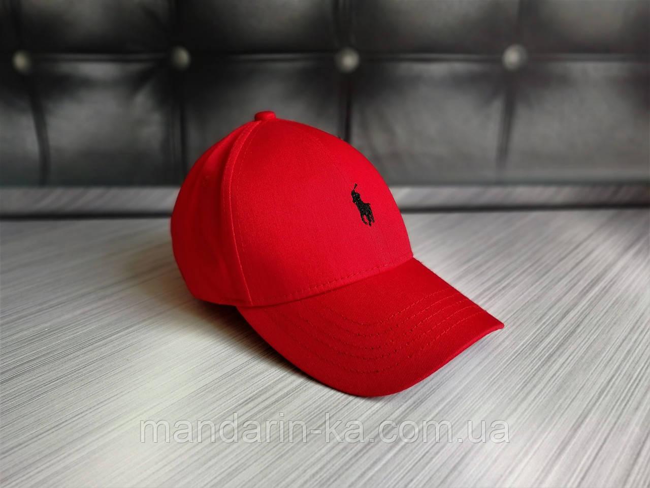 Кепка бейсболка блайзер Polo Ralph Lauren Ральф Лорен красная (реплика)