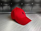 Бейсболка чоловіча червона білий лого  репліка, фото 2