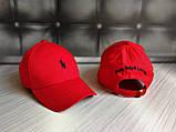 Бейсболка чоловіча червона білий лого  репліка, фото 5
