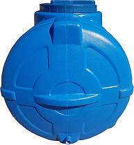 Емкость для воды горизонтальная 300 л трехслойная синяя, фото 3