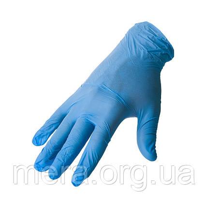Перчатки нитриловые неопудренные, M, фото 2