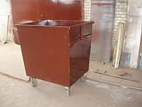 Бак для мусора без крышки металлический 900 литров (задняя загрузка)