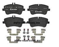 Задние тормозные колодки на Mercedes Vito 639 (пр-во BREMBO P50051)