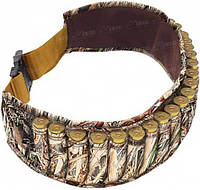 Патронташ Allen Shell Belt на 25 Ружейных Патронов. Материал - Неопрен. Цвет - Mossy Oak Duck Blind. (2528)