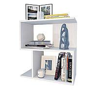 Полка навесная книжная, полка для книг из ДСП 548×598×250 ПК-8 Белого цвета