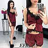 Пижама женская атласная (369) Много расцветок