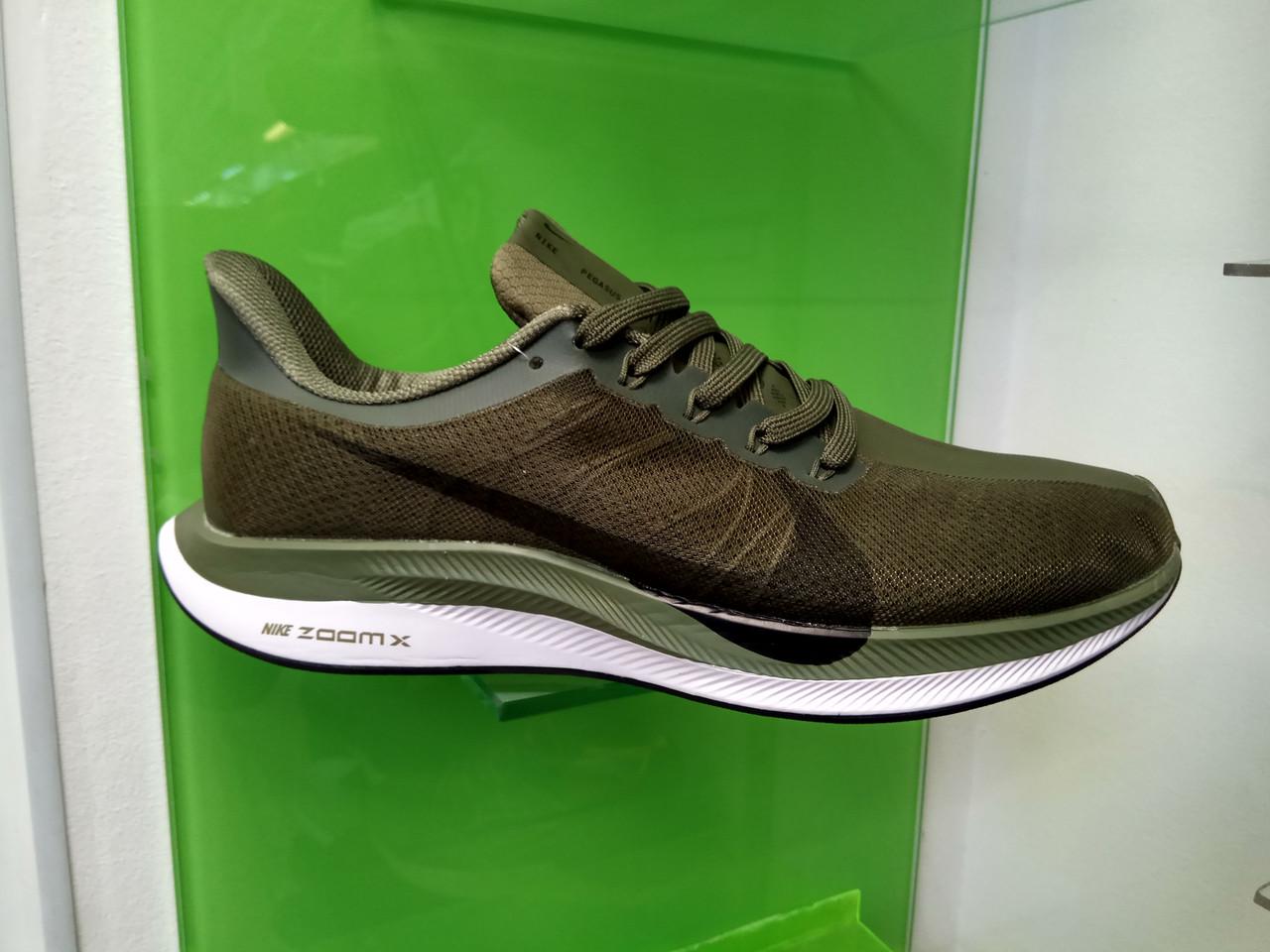 Мужские кроссовки в стиле Zoom Pegasus 35 Turbo Green, размеры с  41 по 45