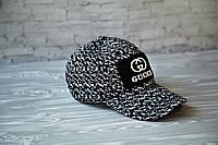 Кепка бейсболка блайзер Gucci Гуччи  черно-белая (реплика), фото 1