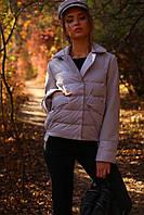 Короткая весенняя куртка с отложным воротником, фото 1