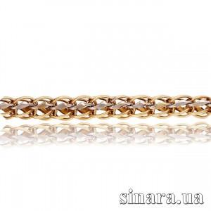 Золотой браслет Фантазия с белым золотом  13144