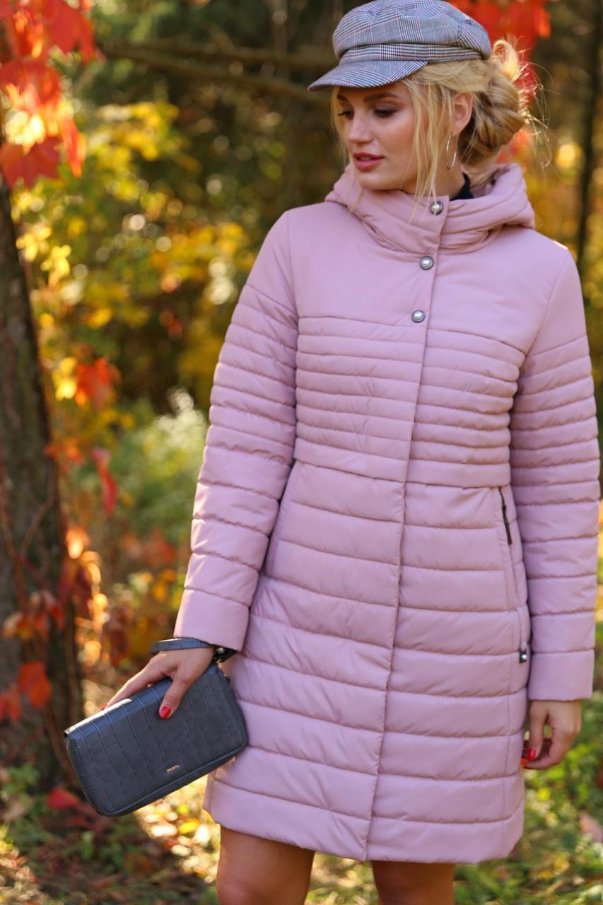 Молодежное стеганное пальто