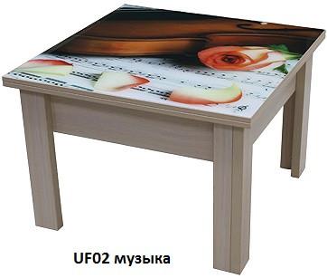 Стол-Трансформер 1 накладка УФ печать (Luxe Stutio TM)