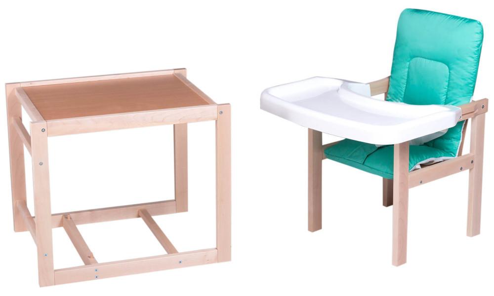 Стульчик- трансформер For Kids Клен-01 ЕСО пластиковая столешница  бирюзовый