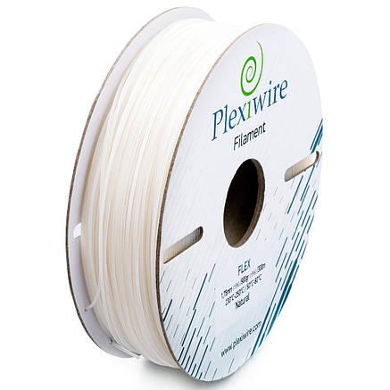 Пластик в котушці Flex 1,75 Білий, 0.9 кг/300м, Plexiwire, фото 2