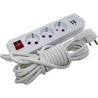 Удлинитель 3г 5м с/з + 2 USB порта ST 749