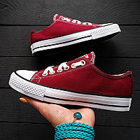 Женские кеды в стиле Converse Chuck Taylor All Star Low Bordo