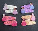 Заколки для волос тик-так с блестками Принцесса София 10 пар/уп., фото 2