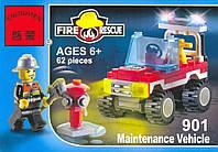 """Конструктор """"Пожарная машина"""" 62 деталей Brick-901"""