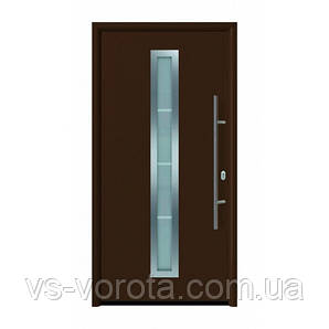 Дверь входная Hormann Thermo 65 700 RAL 8028 коричневый