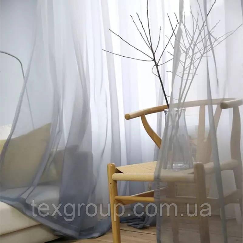 Тюль шифон Карнавал серый