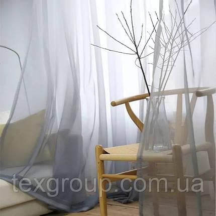 Тюль шифон Карнавал серый, фото 2