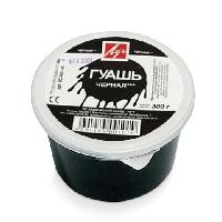 Гуашь черная 225 мл, 0,30 кг Луч