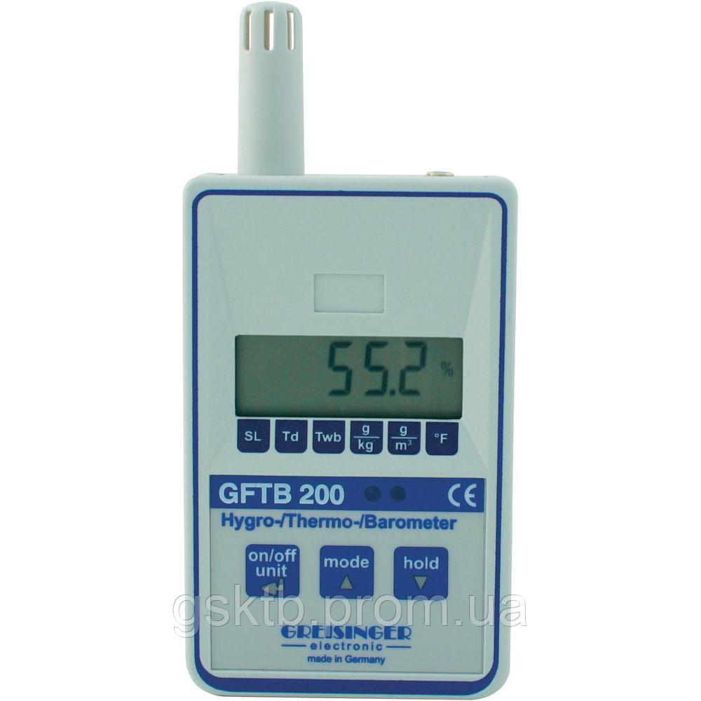 Барометр со встроенным  термогигрометром Greisinger GFTB 200 (Германия)