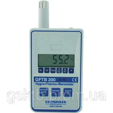 Барометр со встроенным  термогигрометром Greisinger GFTB 200 (Германия), фото 2