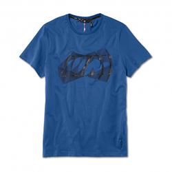 Оригинальная мужская футболка BMW M Logo T-Shirt, Men, Marina Bay Blue