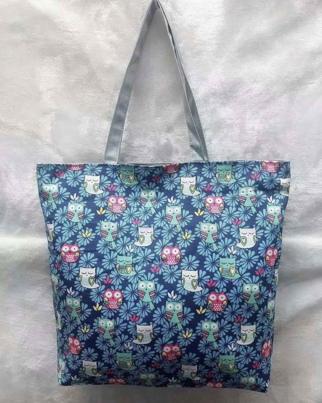 Тканевая пляжная сумка Совы