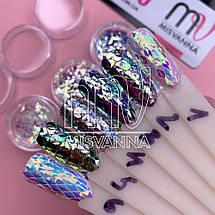Чешуя Дракона №7, вишнево-фиолетовые пятигранники, фото 2
