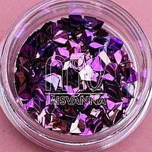Чешуя Дракона №7, вишнево-фиолетовые пятигранники, фото 3