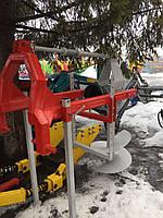 Бур для трактора, ямобур с карданом, два шнека - Ø250 мм; Ø500 мм, фото 1