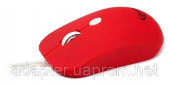 Мышка Gembird MUS-102-R, USB, 1600 DPI, 3 кнопки, красный