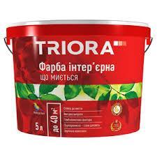 Фарба шовковиста інтер'єрна зносостійка латексна TRIORA NEW