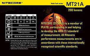 Фонарь Nitecore MT21A (Cree XP-E2 R2, 260 люмен, 6 режимов, 2xAA), фото 2