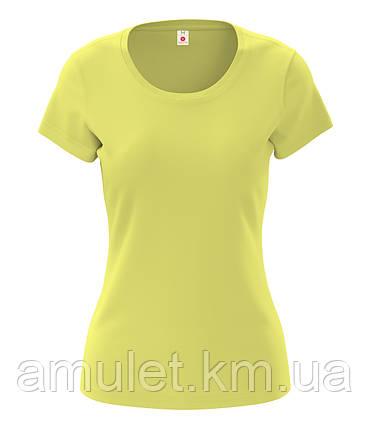 Футболка женская 100% хлопок желтый, фото 2