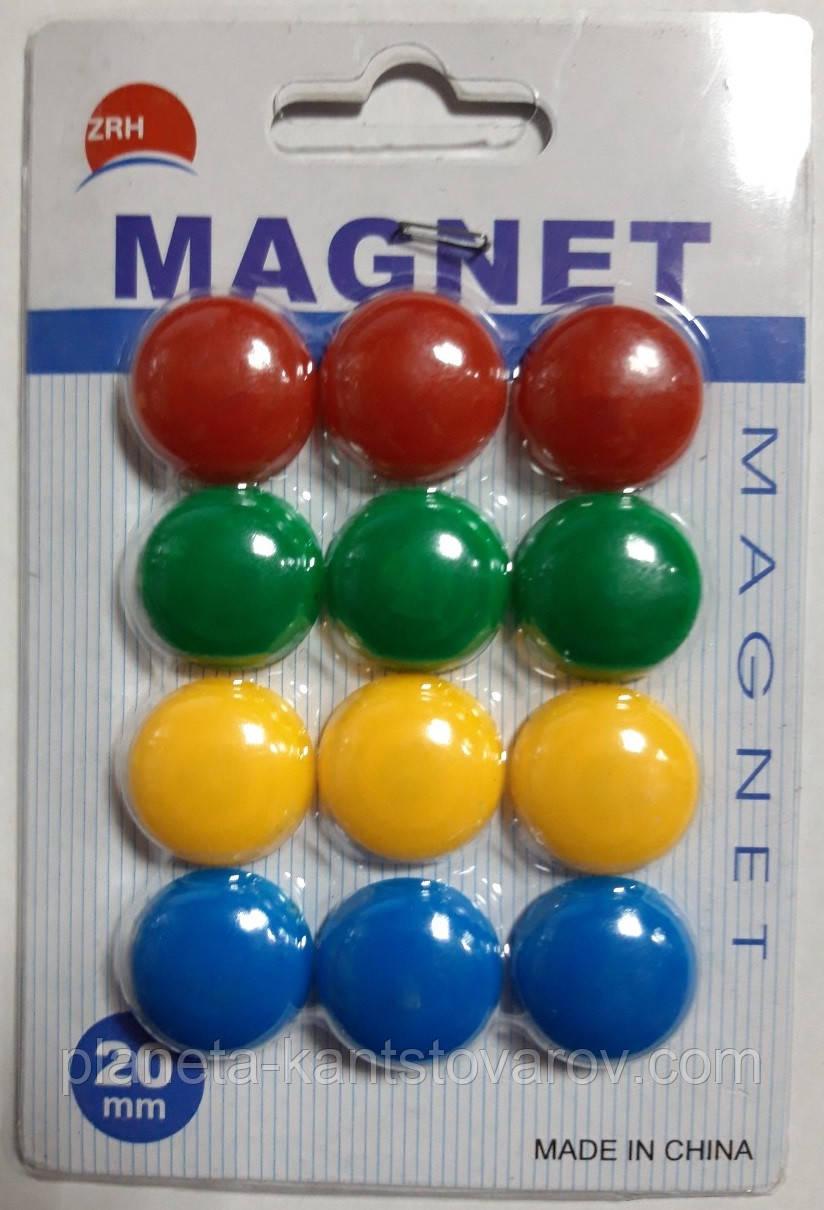 Набор магнитов д-2см*12шт 1570