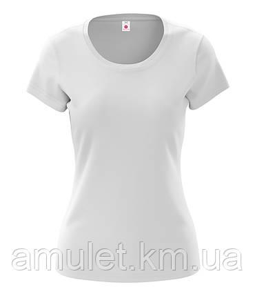 Футболка жіноча Premium біла, фото 2