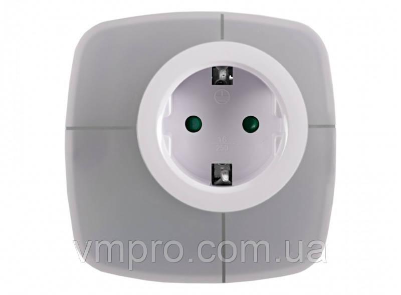 Нічник світлодіодний Luxel 0.6 W RGB з розеткою і датчиком світла, лампи LED світильники