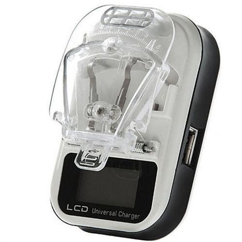 Универсальное зарядное устройство (лягушка, жабка, краб) с LCD дисплеем черный