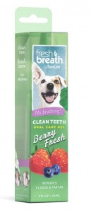 "TROPICLEAN Fresh Breath Clean Teeth Gel ГЕЛЬ ДЛЯ ЧИСТКИ ЗУБОВ У СОБАК, ""СВЕЖАЯ ЯГОДА"""