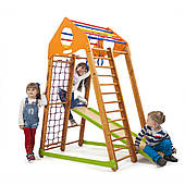 Детский спортивный комплекс SportBaby BambinoWood 1700х850х1320 мм деревянный для дома