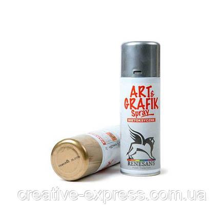 Акрилова фарба в аерозолі, 2 чорна, 200мл ART & GRAFIK, фото 2