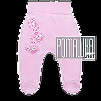 Ползунки (штанишки) на широкой резинке р. 56 демисезонные ткань ИНТЕРЛОК 100% хлопок ТМ Авекс 3165 Розовый Г