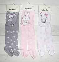 Детские хлопковые колготы для девочки BABY 0-6 мес, фото 1