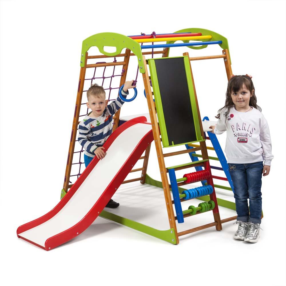 SportBaby Детский спортивный комплекс для дома BabyWood Plus 3