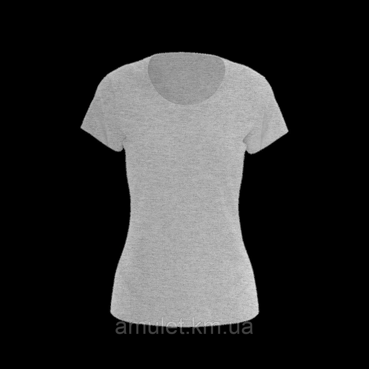 Футболка жіноча 100% бавовна сірий меланж